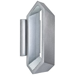 Pitch Large Outdoor LED Wall Sconce (Sand Silver/Small) - OPEN BOX