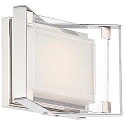 Crystal-Clear 1 Light LED Bath Light