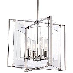 Crystal-Clear 4 Light Pendant Light