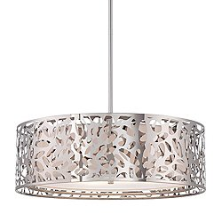 Layover Drum Shade Pendant Light