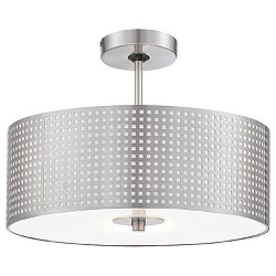 Grid Semi-Flush Mount Ceiling Light