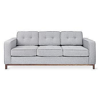Bayview Silver fabric / Walnut base finish