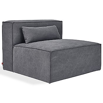 Mix Modular Armless Chair with Mix Modular Ottoman
