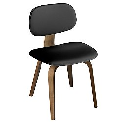 Thompson Chair (Black Vinyl/Walnut) - OPEN BOX RETURN