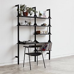 Branch Shelving Unit with Desk