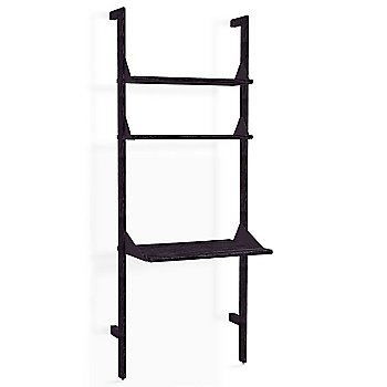 Black Uprights Black Brackets Black Shelves finish / 1 Shelf