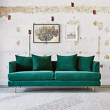 Velvet Spruce Fabric color, in use