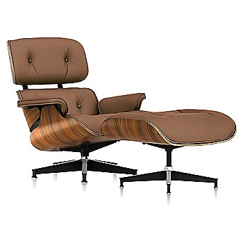 2100 Leather Copper fabric with Santos Palisander frame finish