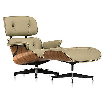 Open Line Leather Eggshell fabric with New Oiled Santos Palisander frame finish