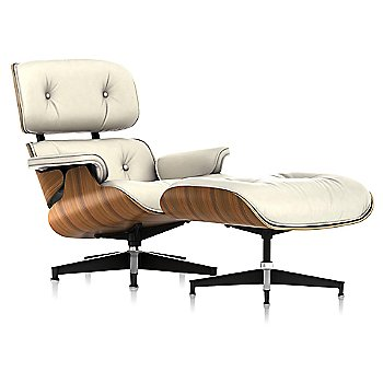 2100 Leather Ivory fabric with New Oiled Santos Palisander frame finish