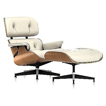 Shown in MCL Leather Ivory, Walnut finish