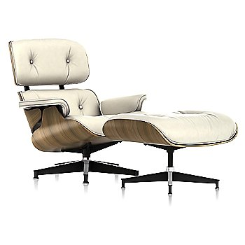 Shown in MCL Leather Ivory, New Oiled Walnut finish