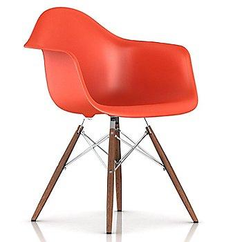 Red Orange / Trivalent Chrome Base Finish / Walnut Leg finish