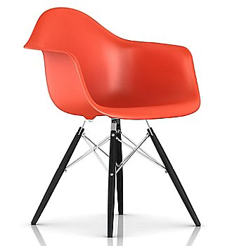 Red Orange / Trivalent Chrome Base Finish / Ebony Leg finish