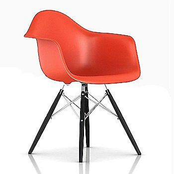 Trivalent Chrome/ Ebony finish / Red Orange Color