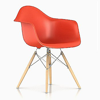 Trivalent Chrome/ Natural Maple finish / Red Orange Color
