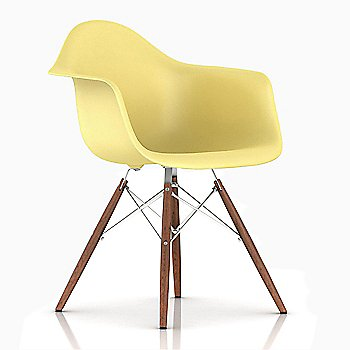 White/ Walnut finish / Pale Yellow Color