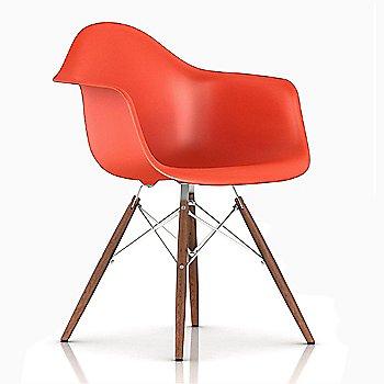 White/ Walnut finish / Red Orange Color