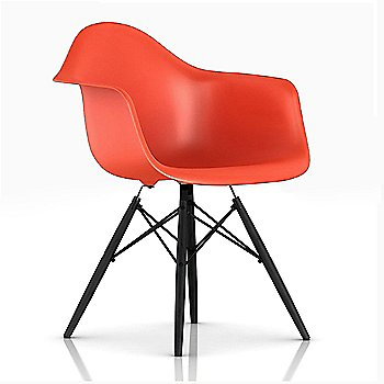 Black/ Ebony finish / Red Orange Color