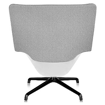 Shown in Heathered Grey fabric with White back finish and Black base finish