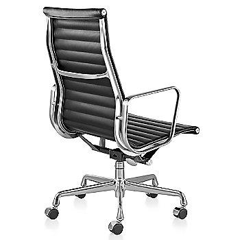 Shown in 2100 Leather Black with Polished Aluminum Base/Polished Aluminum Frame Manual Seat- Height Adjustment