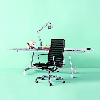 Eames Aluminum Group Executive Chair with AGL Veneer Top Table