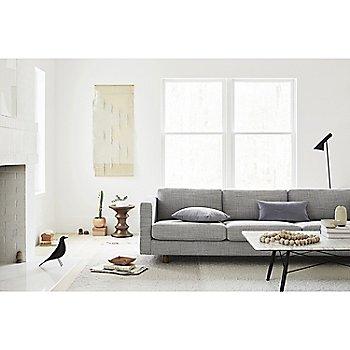 Eames Walnut Stools with Eames Coffee Table and Lispenard Sofa