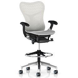 Mirra 2 Office Stool, Butterfly Back with Adjustable Arms