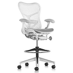 Mirra 2 Office Stool Triflex Back with Adjustable Arms-Lumbar Support