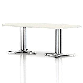 White finish / Metallic Silver base finish / 42 x 84 In. Double Column with Spanner