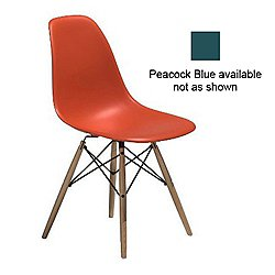Eames Molded Chair with Dowel-Leg (B/Wlt/Pek/St Gl)-OPEN BOX