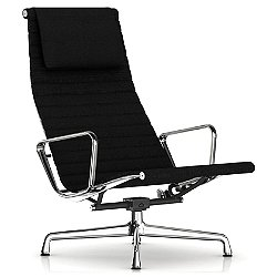 Eames Aluminum Group Lounge Chair (Al/Onx/Swvl/Arm)-OPEN BOX