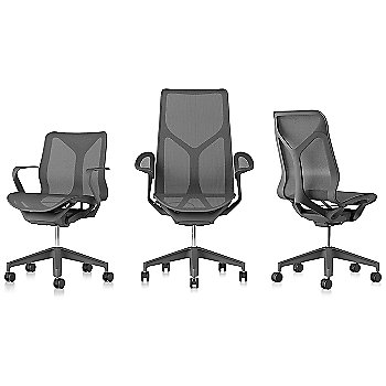 Shown with Low-Back Cosm Chair / High-Back Cosm Chair with Leaf Arm / Mid-Back Cosm Chair