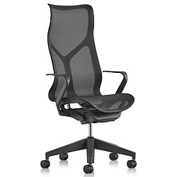 Cosm High Back Chair with Fixed Arms