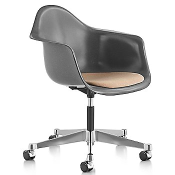 Eames Molded Fiberglass Task Armchair with Upholstered Seat
