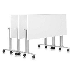 Everywhere Rectangular Flip-Top Table(Silver/60 In)-OPEN BOX