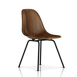 Eames Molded Wood Side Chair w/ 4-Leg Base (Black)- OPEN BOX