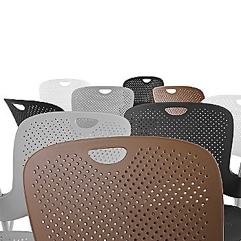 Seat backs, Cappuccino, Fog, Graphite, Black, White