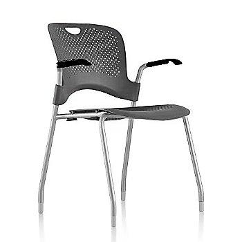 Metallic Silver Frame Finish /  Graphite Seat/Back Finish / Black Arm Finish