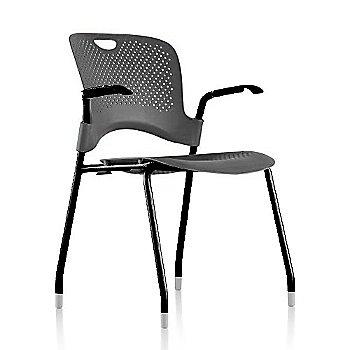 Black Frame Finish /  Graphite Seat/Back Finish / Black Arm Finish