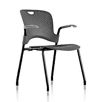 Black Frame Finish /  Graphite Seat/Back Finish / Silver Grey Arm Finish