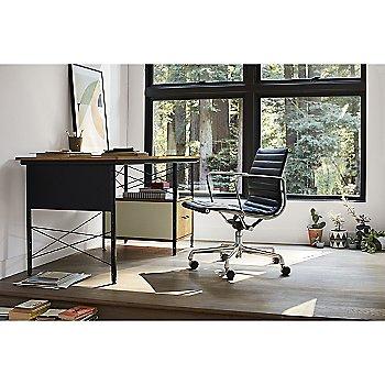 Eames Aluminum Group Management Chair with Eames Desk Unit 20