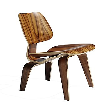 Eames Molded Plywood Lounge Chair with Wood Legs