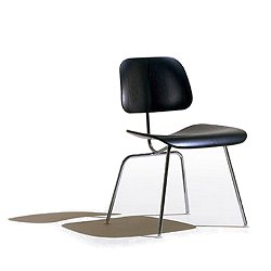 Eames Molded Plywood Dining Chair with Metal Legs