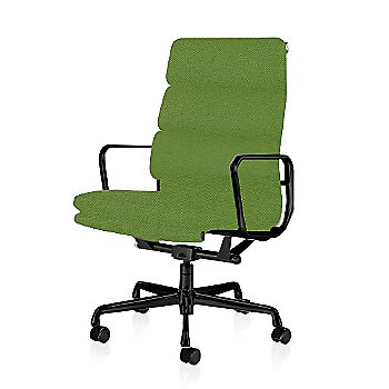 Graphite Satin Base/ Graphite Satin Frame finish / 2in Double Wheel Casters/ Carpet/ Black Painted / Messenger: Neon
