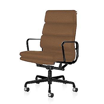 Graphite Satin Base/ Graphite Satin Frame finish / 2-In. Hard Double Wheel Casters, Carpet, Chrome / 2100 Leather: Copper