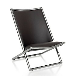 Ward Bennett Scissor Chair, Metal Frame