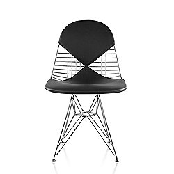 Eames Wire Chair with Leather Seat/Back