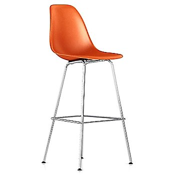 Bar Height size / Red Orange / Trivalent Chrome finish