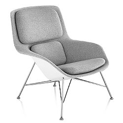 Striad Mid Back Lounge Chair, Wire Base
